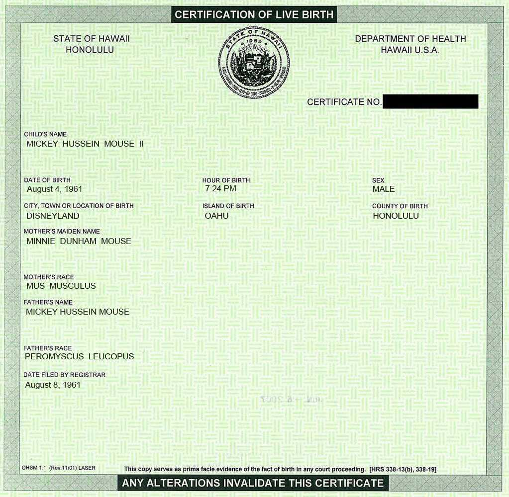 Wearechangetv obama and mickey mouse colb certificate of monthly aiddatafo Image collections