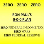Ron Paul counters Herman Cain with 0-0-0 plan