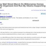 OWS March On Millionaires Homes Actually Organized And Run By Obama Supporting Socialists