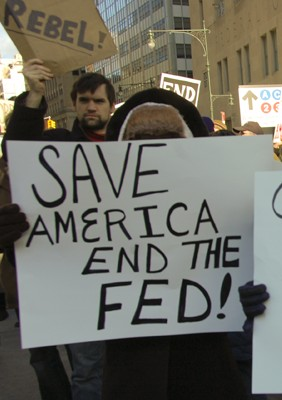 061011feature4 Libertarian Wall Street Protesters Demand End to the Fed