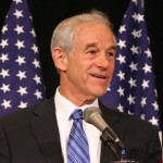 Ron Paul at mic