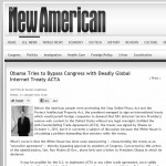 FederalJack Does not recognize ACTA as a legal treaty in the United States of America