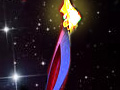 Russia sends Olympic torch to space