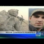 Army Ranger's widow booted from Rumsfeld's book signing (08-28-2011)